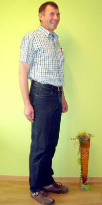Heinz Christen de Laupersdorf après avoir perdu du poids avec ParaMediForm