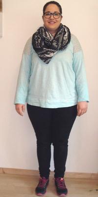 Gabriella Almeida de Oensingen avant de perdre du poids avec ParaMediForm