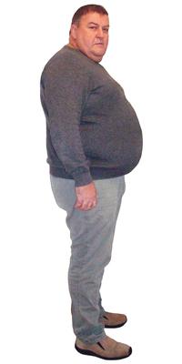 Beat Wiedmer de Selzach avant de perdre du poids avec ParaMediForm