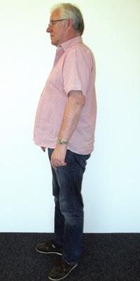 Peter Petzka de Dättwil avant de perdre du poids avec ParaMediForm