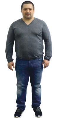 Luis Neto de Birr avant de perdre du poids avec ParaMediForm