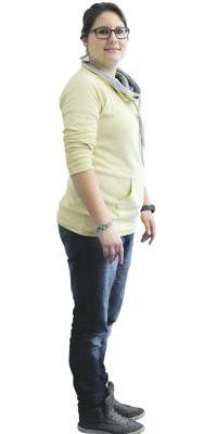 Geraldine Blum aus Lenzburg vor dem Abnehmen mit ParaMediForm