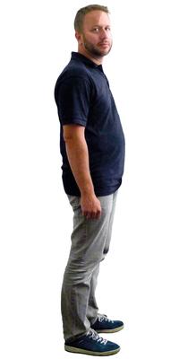 Marcel Bumbacher aus Niederlenz vor dem Abnehmen mit ParaMediForm