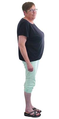 Elisabeth Haller aus Menziken vor dem Abnehmen mit ParaMediForm
