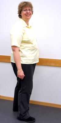 Ursula Feitknecht aus Reinach vor dem Abnehmen mit ParaMediForm