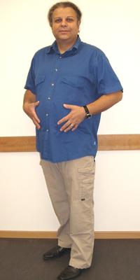 Claudio Meier aus Rheinfelden vor dem Abnehmen mit ParaMediForm