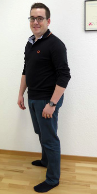 Michael Maurer aus Langenthal vor dem Abnehmen mit ParaMediForm