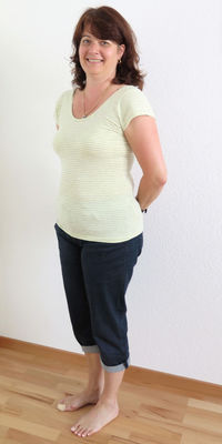 Monika Hunn de Waltenschwil avant de perdre du poids avec ParaMediForm