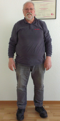 René Neeser de Wohlen avant de perdre du poids avec ParaMediForm