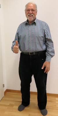 René Neeser aus Wohlen nach dem Abnehmen mit ParaMediForm