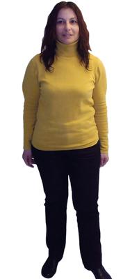 Caterina Affolter-Cristofaro, Institutsleiterin aus Wohlen vor dem Abnehmen mit ParaMediForm