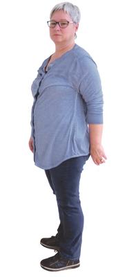 Evelyn Heimann de Waltenschwil avant de perdre du poids avec ParaMediForm