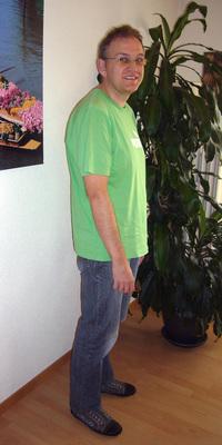 Bruno Böhlen aus Fraubrunnen vor dem Abnehmen mit ParaMediForm