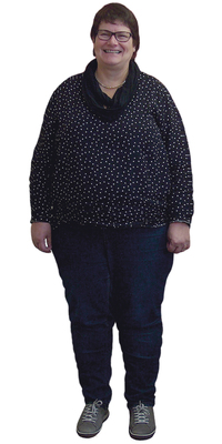 Claudia Witschi de Büren a. Aare avant de perdre du poids avec ParaMediForm