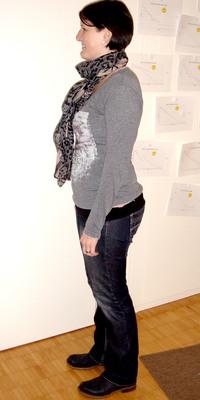 Corinne  Wälchli aus Biembach vor dem Abnehmen mit ParaMediForm