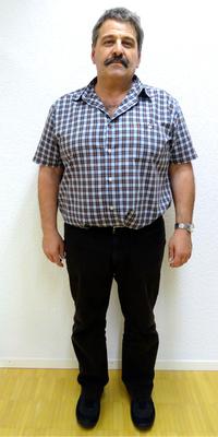 Peter Aeschbach aus Herzogenbuchsee vor dem Abnehmen mit ParaMediForm