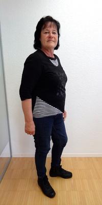Beatrice Bärtschi aus Roggwil vor dem Abnehmen mit ParaMediForm