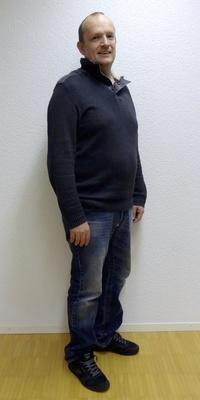 Daniel Gander aus Luthern vor dem Abnehmen mit ParaMediForm