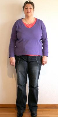 Sandra Gafner aus Spiez vor dem Abnehmen mit ParaMediForm