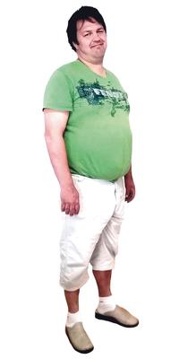 Simon Baeriswyl aus Fahrni b. Thun nach dem Abnehmen mit ParaMediForm
