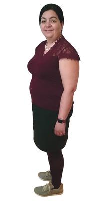 Gloria Zwycki-Smith aus Hünibach vor dem Abnehmen mit ParaMediForm