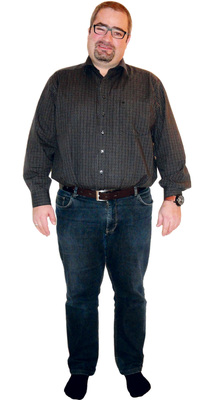 Bruno Inauen de Schübelbach avant de perdre du poids avec ParaMediForm
