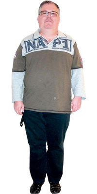 Marcel Gsell de Rapperswil-Jona avant de perdre du poids avec ParaMediForm