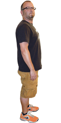 Harry Kälin aus Tuggen vor dem Abnehmen mit ParaMediForm
