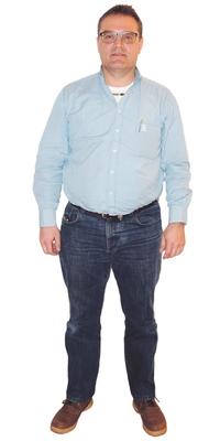 Stefan Diethelm aus Galgenen vor dem Abnehmen mit ParaMediForm