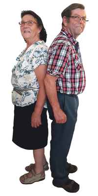 Sonja & Fritz Studler de Schwanden avant de perdre du poids avec ParaMediForm