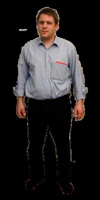 Timo Wanner aus Schleitheim vor dem Abnehmen mit ParaMediForm