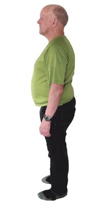 René Weber de Laufenburg avant de perdre du poids avec ParaMediForm