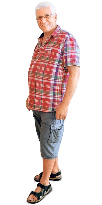 Kurt Hofmann de Hedingen avant de perdre du poids avec ParaMediForm