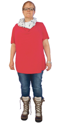 Anita Binks aus Gossau vor dem Abnehmen mit ParaMediForm