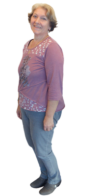 Dora Aellen de Herisau après avoir perdu du poids avec ParaMediForm