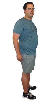 Dominik Eggert de Diepoldsau avant de perdre du poids avec ParaMediForm