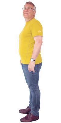 Marcel Schildknecht de Amriswil avant de perdre du poids avec ParaMediForm