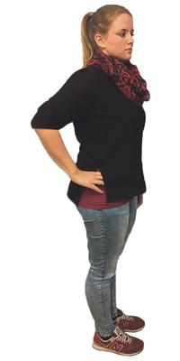 Nicole Schuhwerk aus Arbon vor dem Abnehmen mit ParaMediForm
