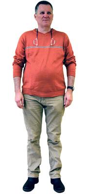 Marcel Hasler de Unterengstringen avant de perdre du poids avec ParaMediForm