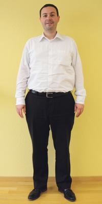 Marc Altorfer de Schlieren avant de perdre du poids avec ParaMediForm