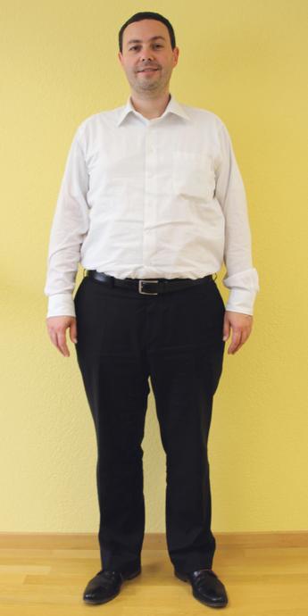 Marc Altorfer aus Schlieren vor dem Abnehmen mit ParaMediForm