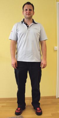 Patrick Zimmermann de Unterengstringen avant de perdre du poids avec ParaMediForm