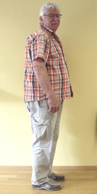 Freddy Lattmann de Uitikon avant de perdre du poids avec ParaMediForm