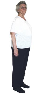 Gertrud Hüppi de Rüti avant de perdre du poids avec ParaMediForm