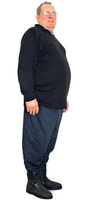 Heinz Fleckner de Hinwil avant de perdre du poids avec ParaMediForm