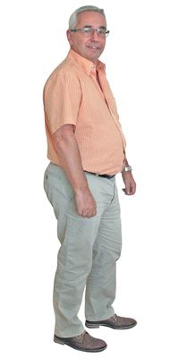 Kurt Marty aus Wetzikon vor dem Abnehmen mit ParaMediForm