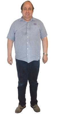 Peter Ammann de Arbon avant de perdre du poids avec ParaMediForm