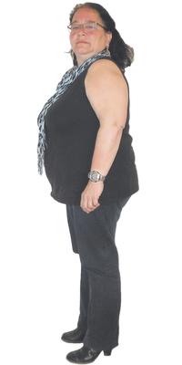 Nelly Mettler de Schwellbrunn avant de perdre du poids avec ParaMediForm