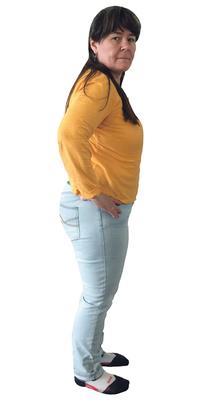 Monika Näf de Dozwil TG avant de perdre du poids avec ParaMediForm