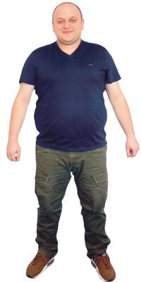 Marco Wilhelm de Wetzikon avant de perdre du poids avec ParaMediForm
